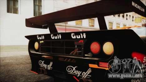 McLaren F1 GTR 1998 para GTA San Andreas vista posterior izquierda