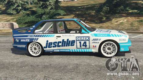 GTA 5 BMW M3 (E30) 1991 [Jeschke] v1.2 vista lateral izquierda