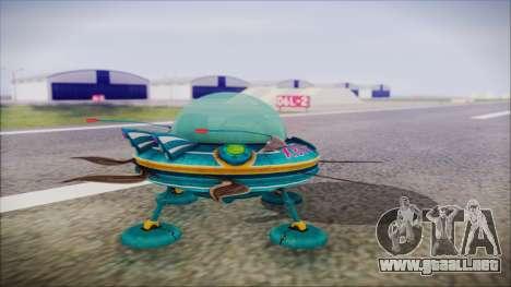 X808 UFO para GTA San Andreas left