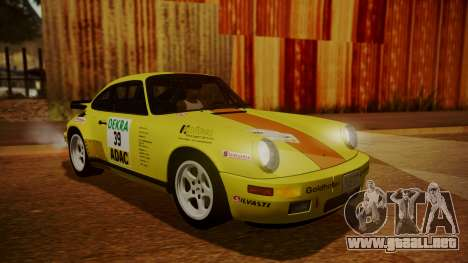 RUF CTR Yellowbird (911) 1987 HQLM para vista inferior GTA San Andreas