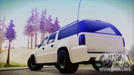 GTA 5 Declasse Granger FIB SUV para GTA San Andreas left