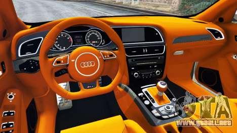 GTA 5 Audi RS4 Avant 2013 vista lateral trasera derecha