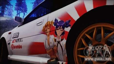 Subaru Impreza 22B STi para la visión correcta GTA San Andreas