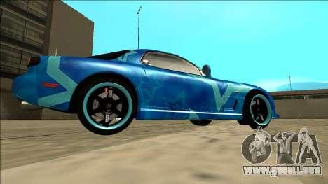 Mazda RX-7 Drift Blue Star para la visión correcta GTA San Andreas