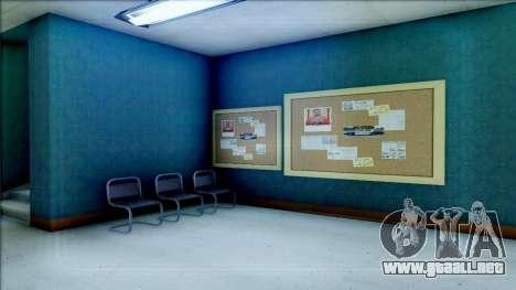 New Interior for SFPD para GTA San Andreas octavo de pantalla