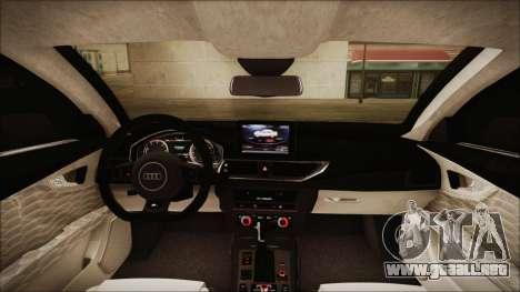 Audi RS7 Sportback 2015 para la vista superior GTA San Andreas