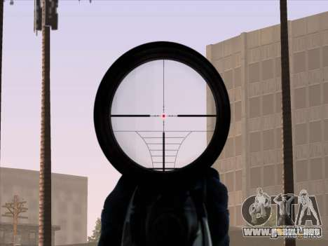 Sniper Scope v2 para GTA San Andreas quinta pantalla