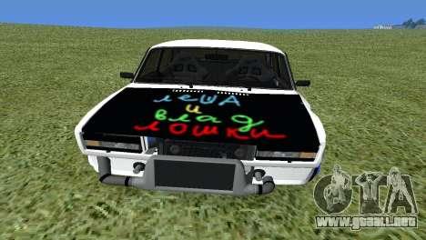 VAZ 2105 Bq Final para la visión correcta GTA San Andreas