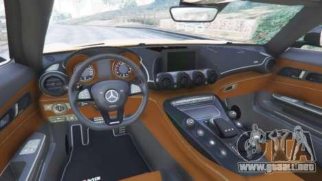 GTA 5 Mercedes-Benz AMG GT 2016 v2.0 vista lateral derecha