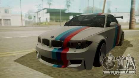 BMW 1M E82 without Sunroof para visión interna GTA San Andreas