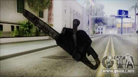 Helloween Chainsaw para GTA San Andreas tercera pantalla