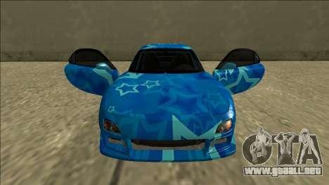 Mazda RX-7 Drift Blue Star para la vista superior GTA San Andreas