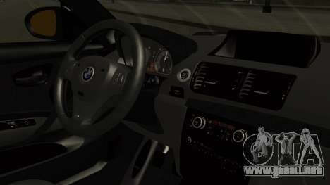 BMW 1M E82 without Sunroof para la visión correcta GTA San Andreas