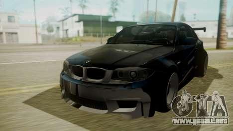 BMW 1M E82 without Sunroof para la vista superior GTA San Andreas