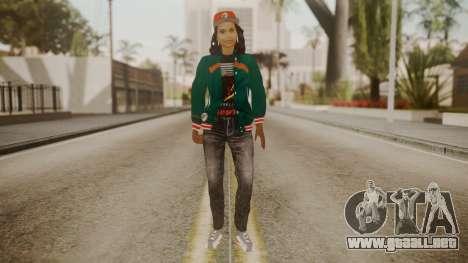 Home Girl Cat para GTA San Andreas segunda pantalla