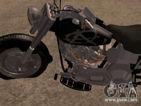Harley Davidson Fat Boy Sons Of Anarchy para GTA San Andreas left