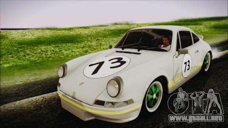 Porsche 911 Carrera RS 2.7 (901) 1973 para visión interna GTA San Andreas