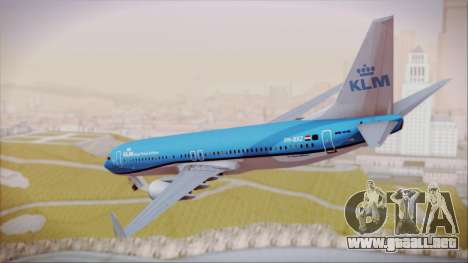 Boeing 737-800 KLM Royal Dutch Airlines para GTA San Andreas left