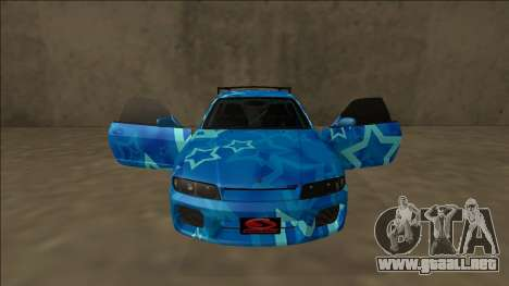 Nissan Skyline R33 Drift Blue Star para GTA San Andreas interior