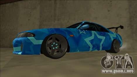 Nissan Skyline R33 Drift Blue Star para GTA San Andreas vista posterior izquierda