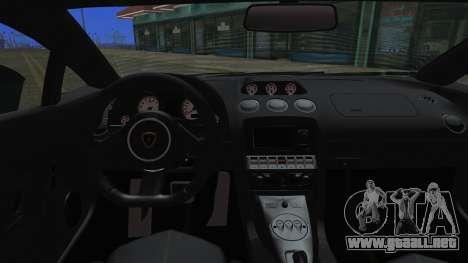 Lamborghini Gallardo LP570-4 2015 Miku Racing para visión interna GTA San Andreas