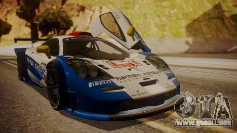 McLaren F1 GTR 1998 HarmanKardon para vista inferior GTA San Andreas