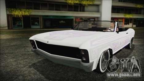GTA 5 Albany Buccaneer Hydra Version para visión interna GTA San Andreas