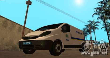 Opel Vivaro De La Policía De Ucrania para GTA San Andreas left