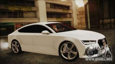 Audi RS7 Sportback 2015 para la visión correcta GTA San Andreas