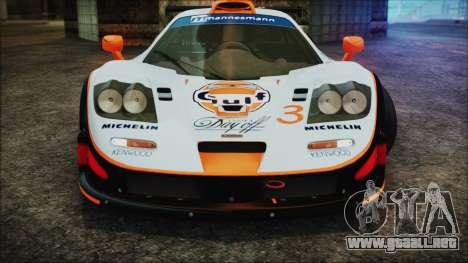 McLaren F1 GTR 1998 para vista inferior GTA San Andreas