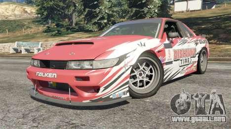 GTA 5 Nissan Silvia S13 v1.2 [with livery] vista lateral derecha