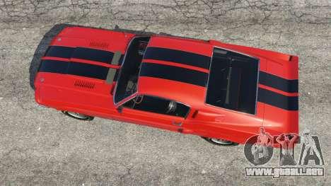 GTA 5 Shelby Mustang GT500 1967 [LowRiders] vista trasera