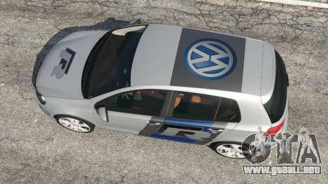 GTA 5 Volkswagen Golf Mk6 v2.0 [WRC Polo] vista trasera
