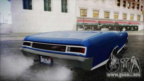 GTA 5 Albany Buccaneer Hydra Version para GTA San Andreas left
