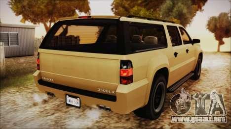 GTA 5 Declasse Granger SA Style para GTA San Andreas left