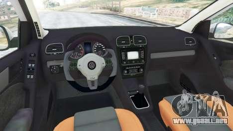 GTA 5 Volkswagen Golf Mk6 v2.0 [WRC Polo] vista lateral trasera derecha