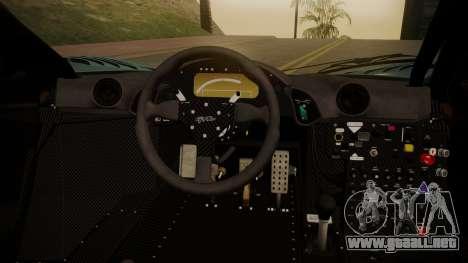 McLaren F1 GTR 1998 Gulf Team para la visión correcta GTA San Andreas