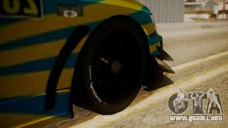 Mitsubishi Lancer Evolution Pushkar para GTA San Andreas vista posterior izquierda