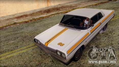 Chevrolet Impala SS 1964 Final para el motor de GTA San Andreas