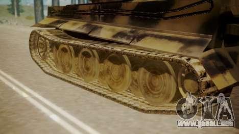 Panzerkampfwagen VI Tiger Ausf. H1 para GTA San Andreas vista posterior izquierda