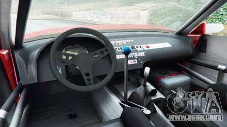 GTA 5 Nissan Silvia S13 v1.2 [with livery] vista lateral trasera derecha