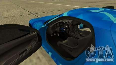 Mazda RX-7 Drift Blue Star para vista lateral GTA San Andreas