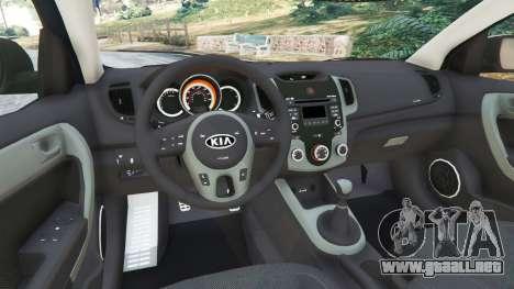 GTA 5 Kia Forte Koup SX [Beta] vista lateral trasera derecha
