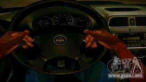 Subaru Impreza WRX STI Wagon para visión interna GTA San Andreas
