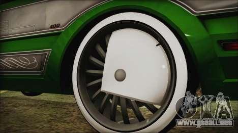 GTA 5 Faction LowRider DLC para GTA San Andreas vista posterior izquierda