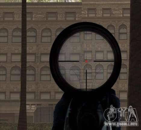 Sniper Scope v2 para GTA San Andreas octavo de pantalla