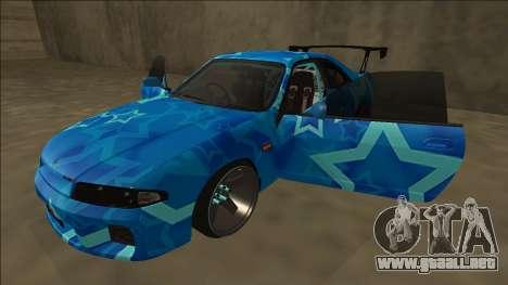 Nissan Skyline R33 Drift Blue Star para vista inferior GTA San Andreas