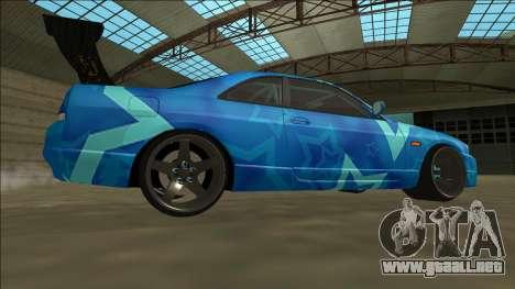 Nissan Skyline R33 Drift Blue Star para la visión correcta GTA San Andreas