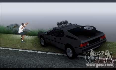 BMW M1 E26 Rusty Rebel para visión interna GTA San Andreas