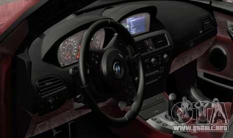 BMW M6 E63 para GTA San Andreas vista posterior izquierda